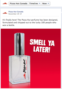pizza hut canada perfume is an international success! - calgary business